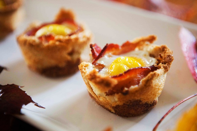 Egg Bacon Toast Cups Recipe