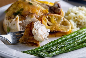 American Grilled Lemon Chicken with Asparagus Recipe