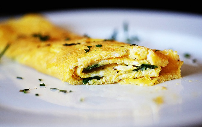 French Omelette with Fresh Herbs Recipe