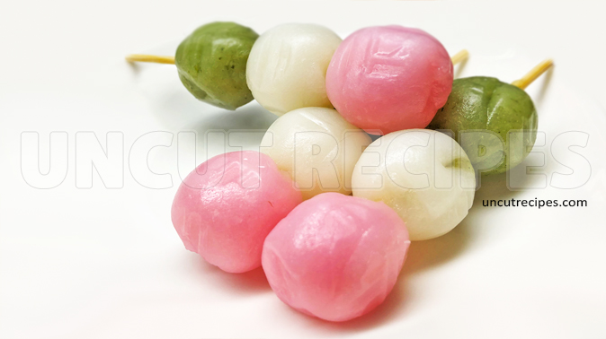 Japanese Hanami Dango ( 花見団子 ) Recipe
