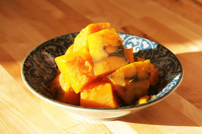 Japanese Kabocha no Nimono ( Simmered Pumpkin - かぼちゃの煮物 ) Recipe